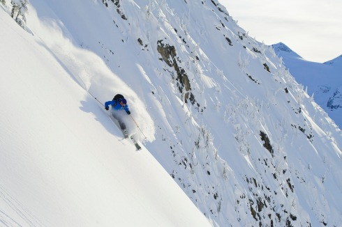 "Greg HIll skiing near Avalanche crest, Rogers Pass, BC, Canada. (From searching ""Dynafit"" online.)"