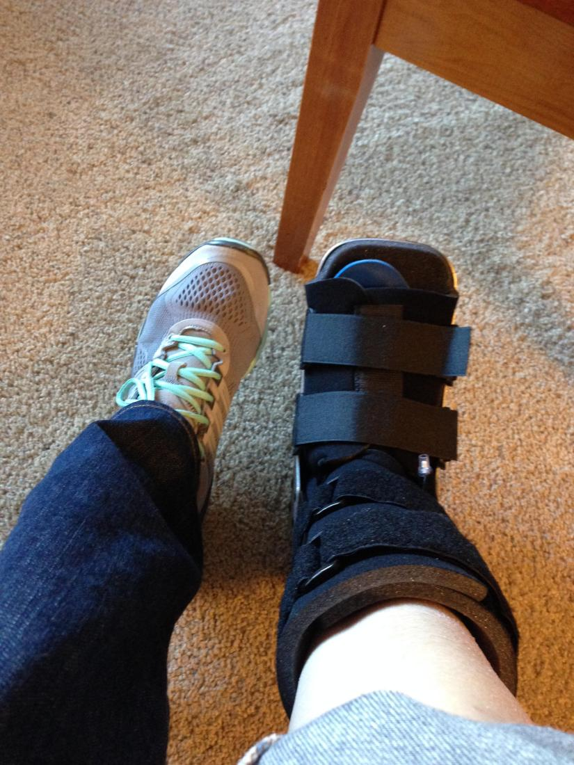 Sprained ankle :-(